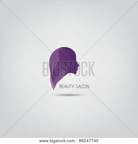 Woman Silhouette Vector Logo Design Template