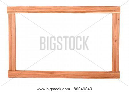 The Wooden  Batten Square Scantling On The White Background