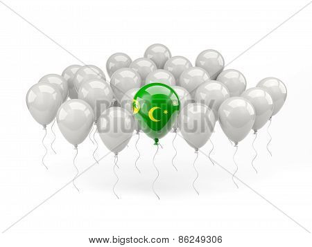 Air Balloons With Flag Of Cocos Islands