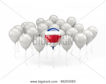Air Balloons With Flag Of Costa Rica