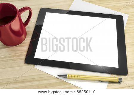 An image of a tablet pc with space for your content