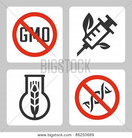 Vector Gmo Related Icons Set