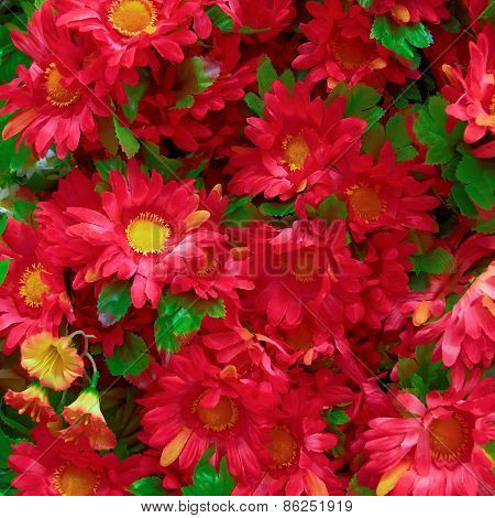 fake chryshanthemums floral background