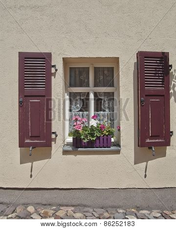 picuresque window and flowers Altenburg Germany
