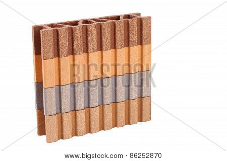 This Is A Composite Material For Terrace On The White Background
