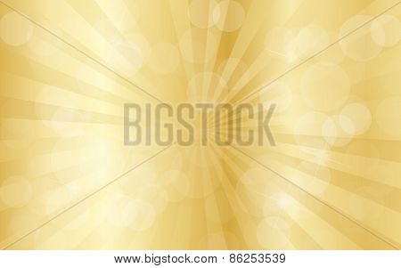 Gold abstract background with rays