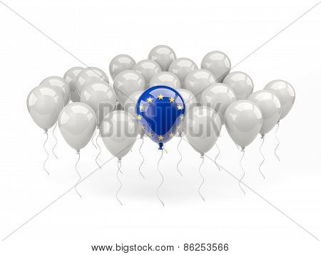 Air Balloons With Flag Of European Union