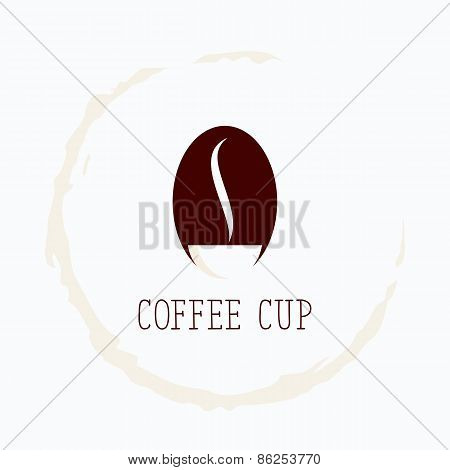 Coffee cup logo template (concept). Vector illustration.