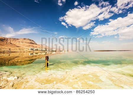 Coastline And Hotels At The Dead Sea