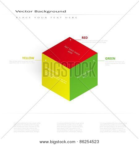 Vector 3d illustration color cube