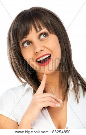 Cheerful Woman Having Exciting Idea