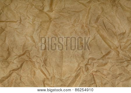 Old Blank Crumpled Paper