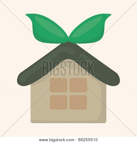 Environmental Protection Concept Theme Elements; Greenhouses; Green House
