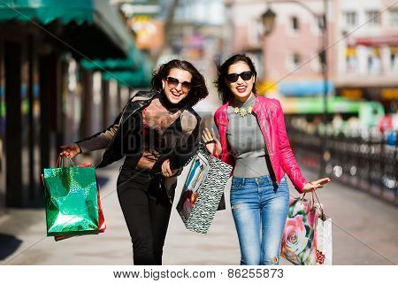 Shopping Women Outdoors