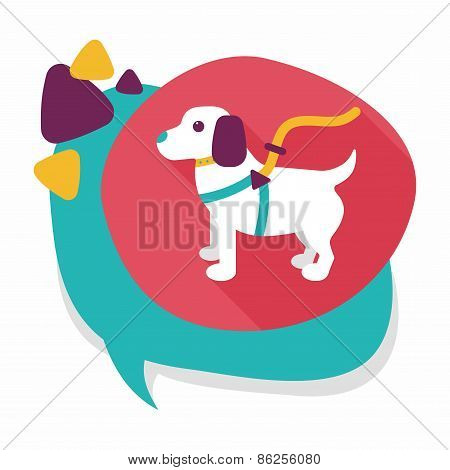 Pet Dog Flat Icon With Long Shadow,eps10