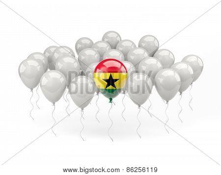 Air Balloons With Flag Of Ghana