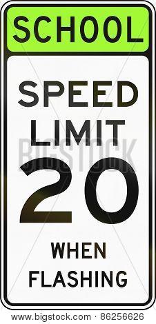 School Speed Limit When Flashing