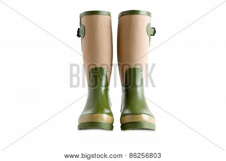 Pair Of Stylish Ladies Gardening Boots