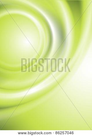 Vector brochure template green design