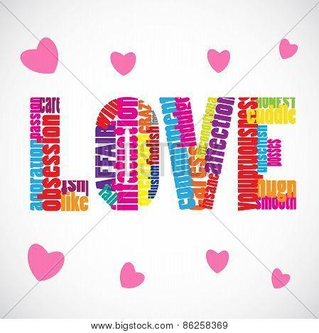 Love Text Vector