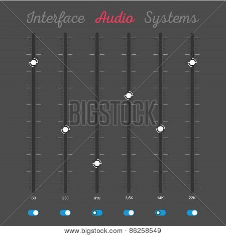 Set Of Interface Elements Of Audio System