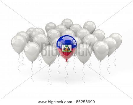 Air Balloons With Flag Of Haiti