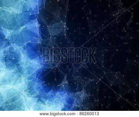 Blue Abstract Nebula