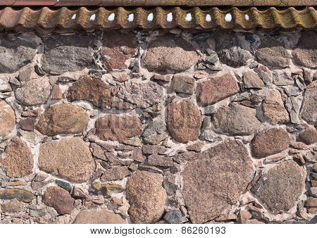Old stone wall as abstract background
