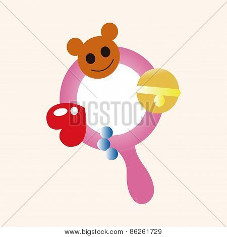 Baby Rattle Theme Elements
