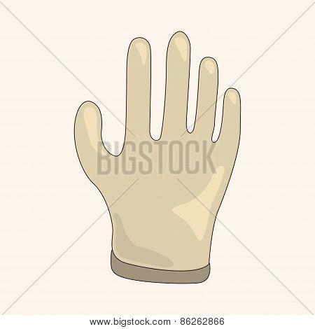 Medical Gloves Theme Elements
