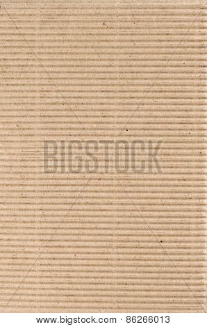 Corrugated brown cardboard as background