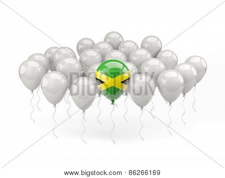 Air Balloons With Flag Of Jamaica