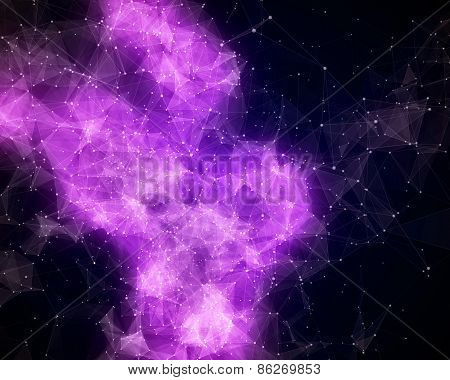 Abstract Violet Nebula In Cosmos