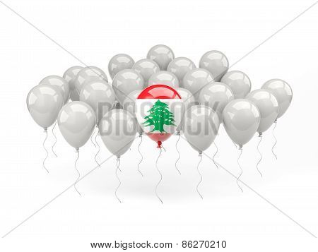 Air Balloons With Flag Of Lebanon