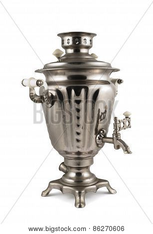 Old russian samovar water boiler