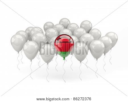 Air Balloons With Flag Of Malawi