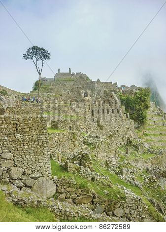 Machu Picchu Architecture High Angle View