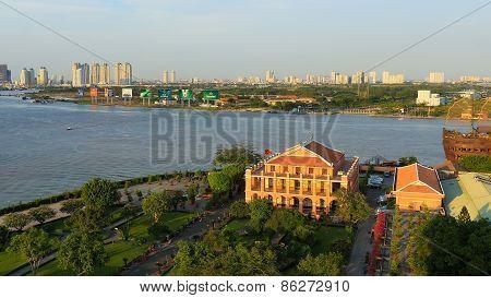 Ho Chi Minh City / Vietnam - Circa Feb 2015 : Dragon House Wharf ( Ben Nha Rong ) Or Ho Chi Minh Mus