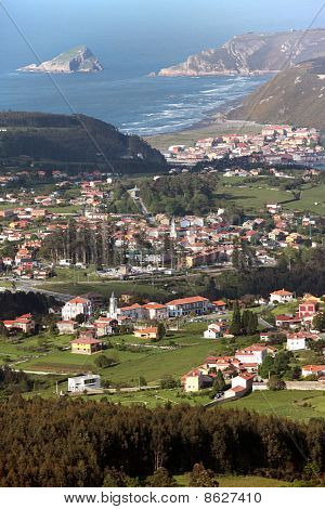 Coast Village In Spain