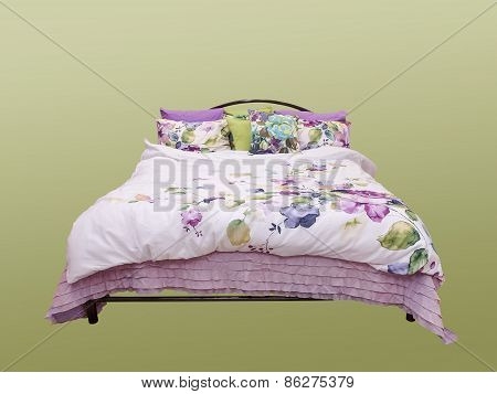Bed Isolated On White Background