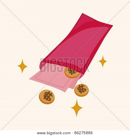 Chinese New Year Red Envelope Theme Elements