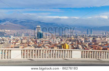 Panorama With Modern City Buildings. Izmir, Turkey