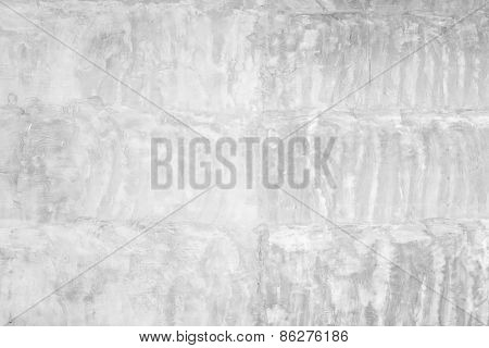 Empty White Grungy Concrete Wall, Background Texture