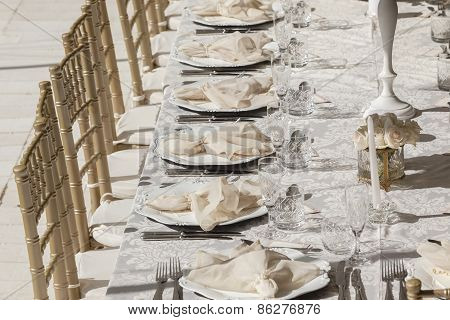 Dining Decor Cutlery Outdoors