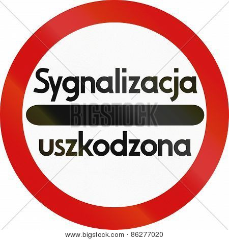 Stop - Faulty Signaling In Poland