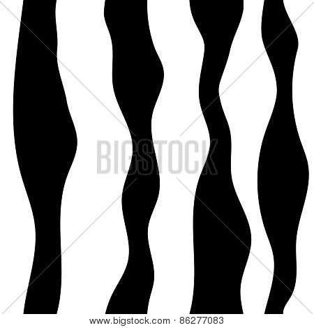 Monochrome abstract pattern. Wavy lines background