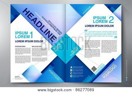 Brochure Design Two Pages A4 Vector Template