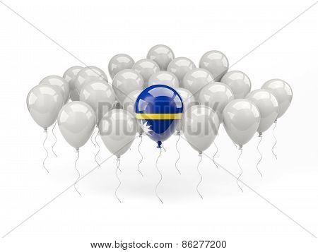 Air Balloons With Flag Of Nauru