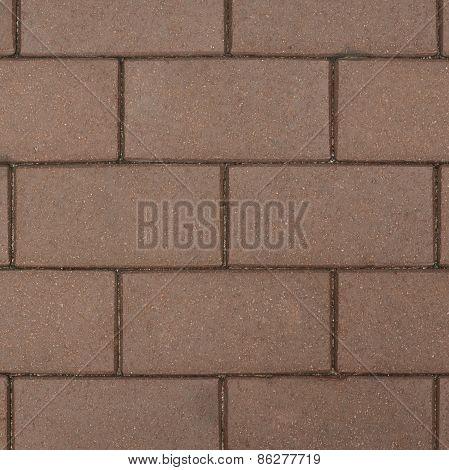 Brown brick paving stone sett