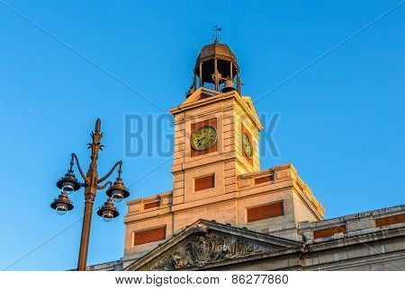 The Clock Of The Real Casa De Correos In Madrid